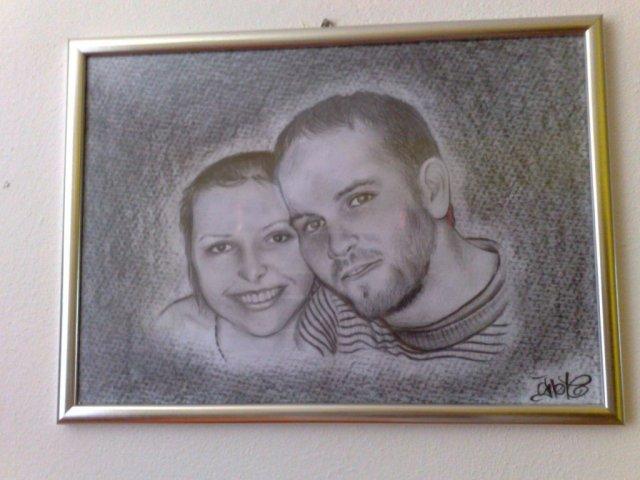 Michal a Barbora : Príprava na našu elfskú svadbu - dar od našich kamarátok. Moc ďakujeme, už nám visí na stene!