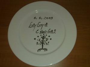 tanier na pozdravy od hostí