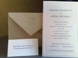 spolu s pozvánkou k stolu a obálkou