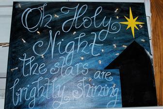 Môj tohtoročný výtvor - obraz so svetielkami