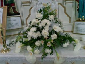 Ikebana v kostole robila mi ju znama