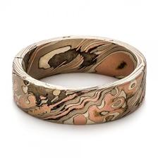 Joseph Jewelry - Custom Men's Mokume Wedding Band - Https://www.josephjewelry.com/mens-wedding-rings/custom-mens-mokume-wedding-band-100673