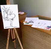 Set- svatební strom na A3 v bílém rámu s razítkem,