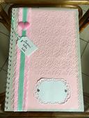 Svatební kniha hostů- romantic pink-mint,