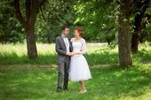 Elegantní svatební šaty 36 - 38, 36