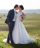 Svatební šaty - dle typu Pranette šité na míru, 37