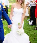 Bílé svatební šaty - mořská panna  vel. 34-36, 34