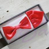 Červený motýlek s kapesníčkem,