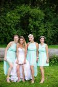 Mentolové šaty pro družičky, 38