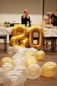 Perleťové zlaté balónky,