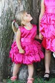 Fuschsiové růžové dětské šaty , 92