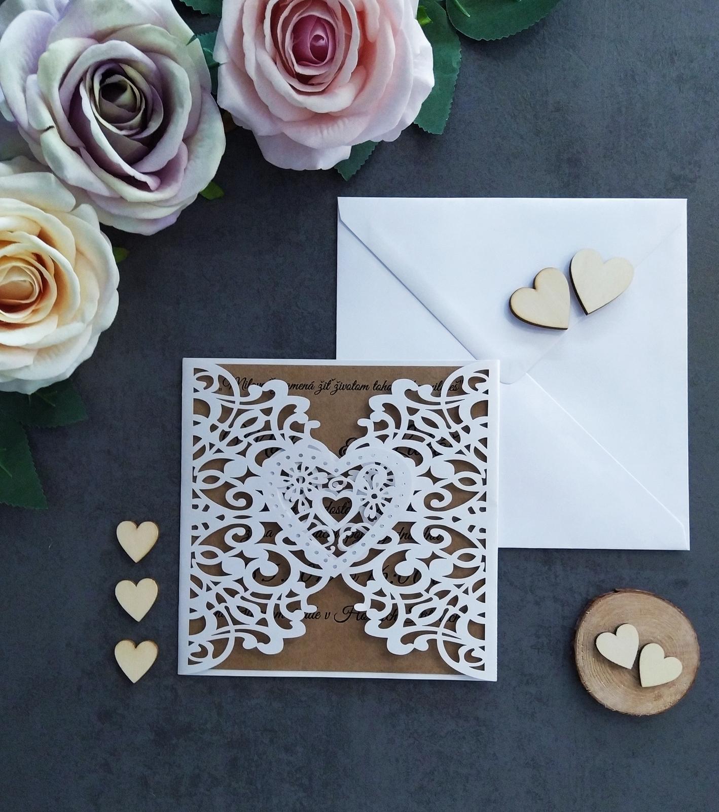 Elegantné svadobné oznámenie - Obrázok č. 1