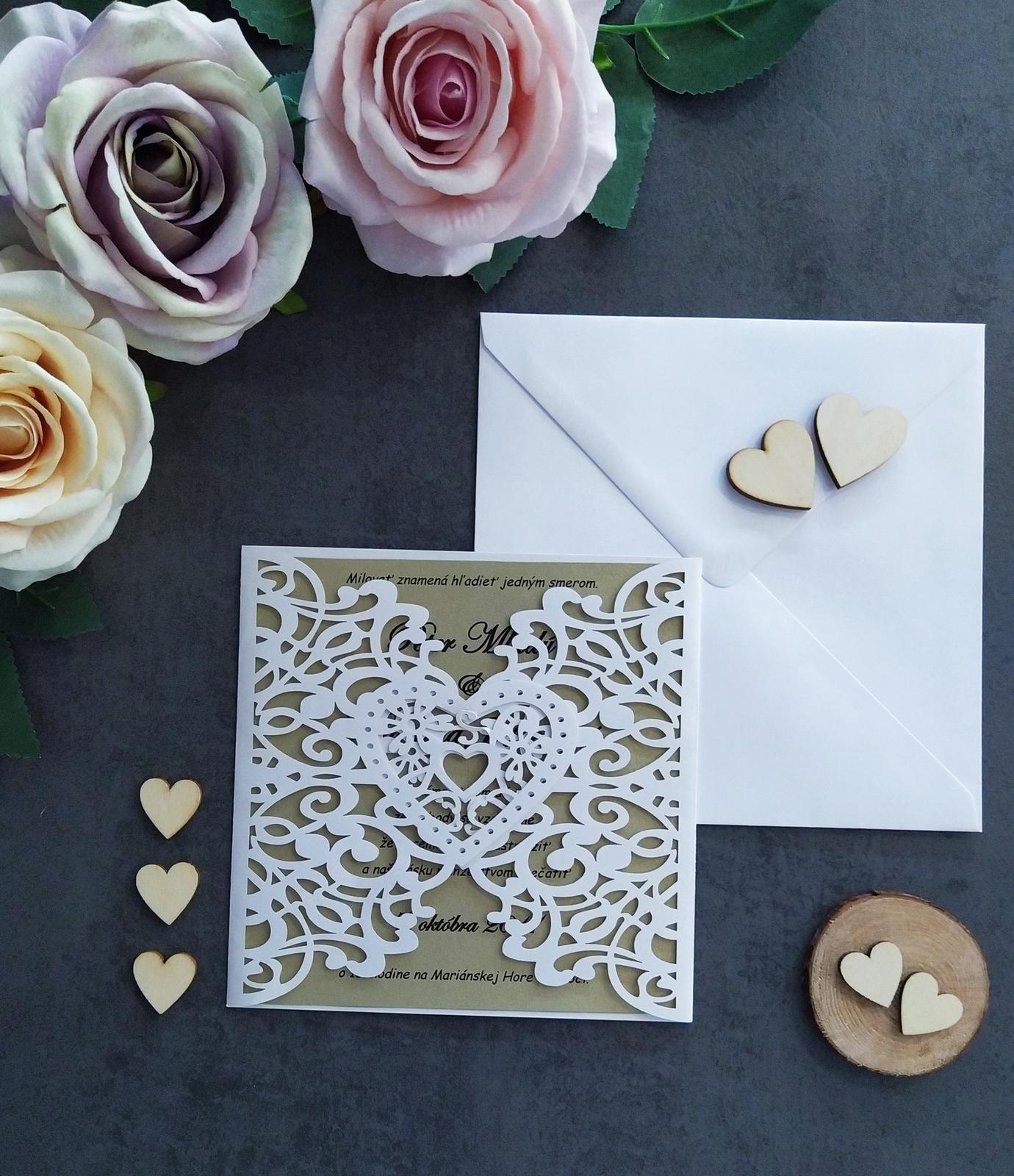 Elegantné svadobné oznámenie - Obrázok č. 2
