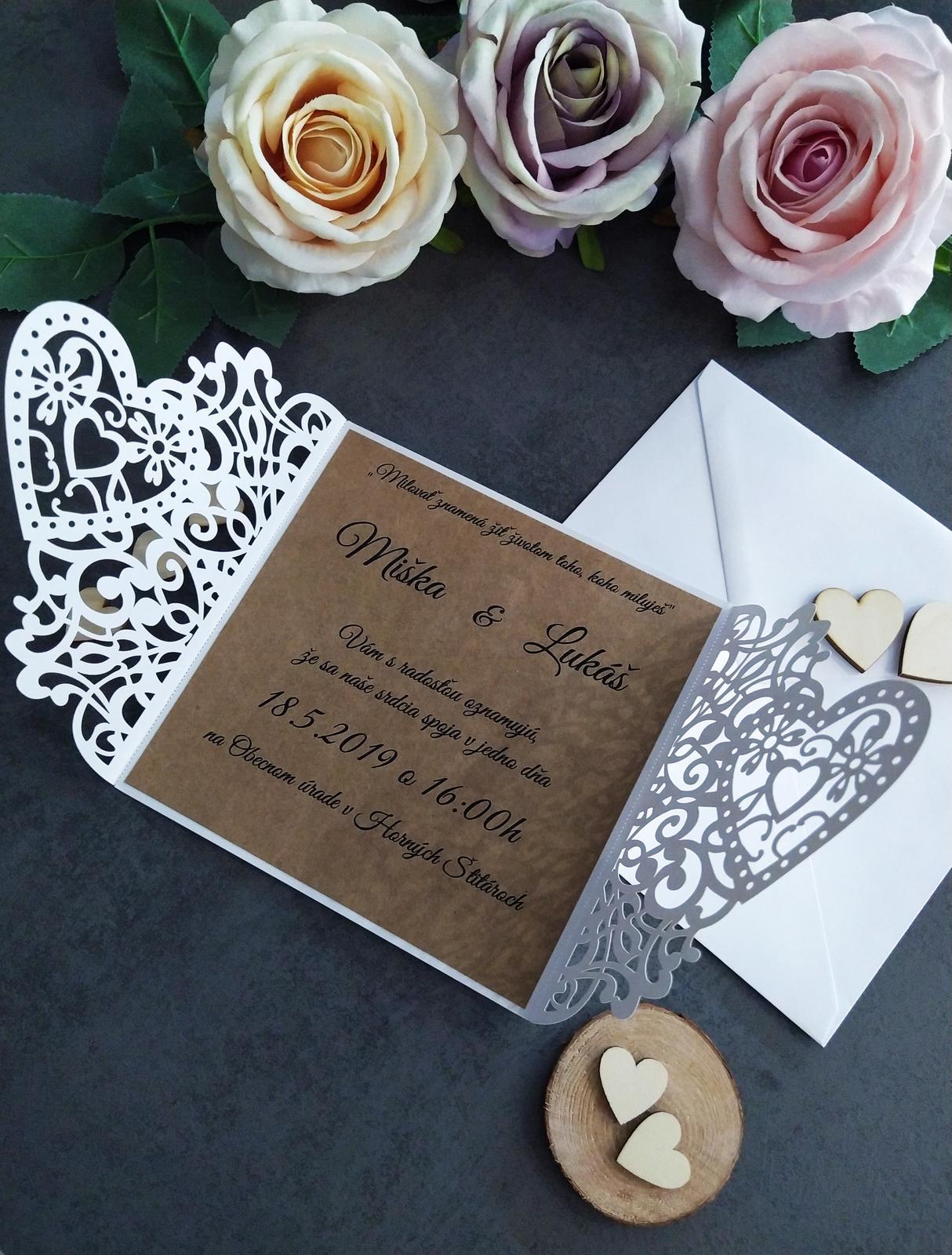 Elegantné svadobné oznámenie - Obrázok č. 3