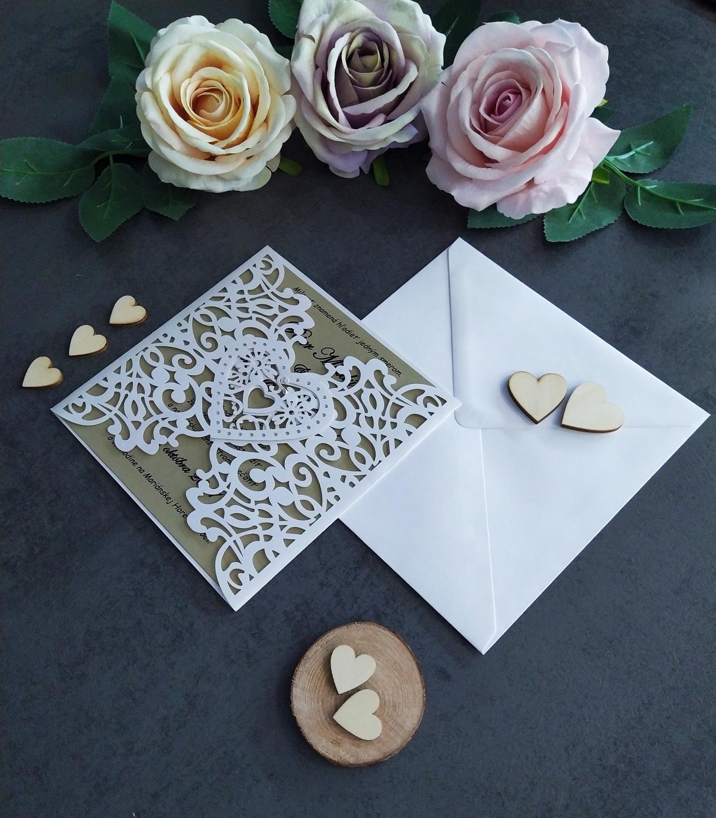 Elegantné svadobné oznámenie - Obrázok č. 4