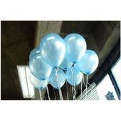 Lesklé světle modré balónky ,