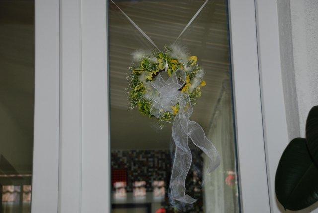 Detaily našej svadby - doma na dverách