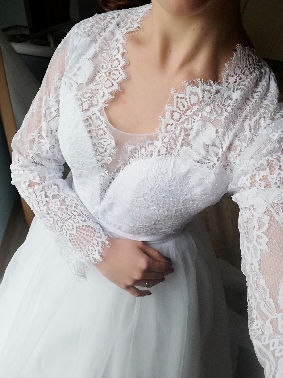 Čipkované šaty S-M - Obrázok č. 1