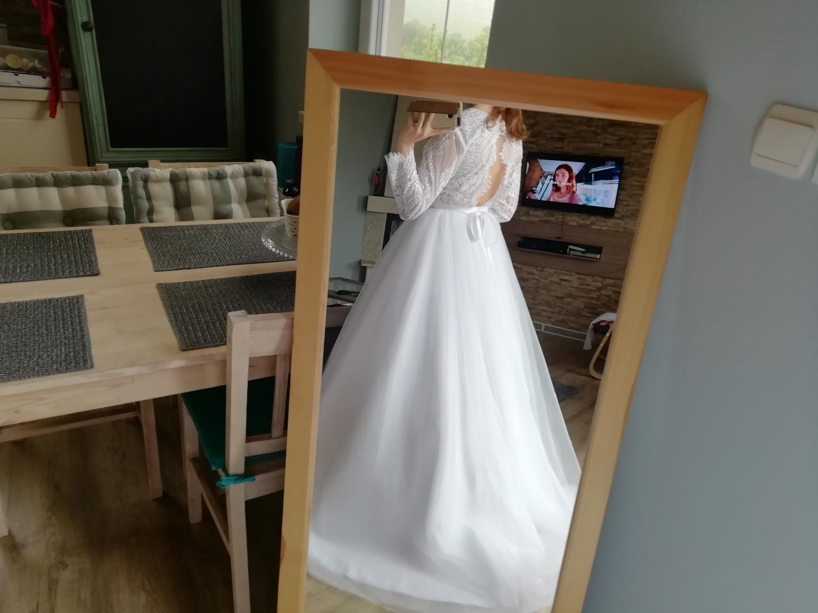 Čipkované šaty S-M - Obrázok č. 4