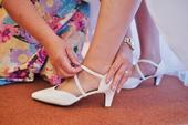 Bílé svatební boty na podpatku, 41