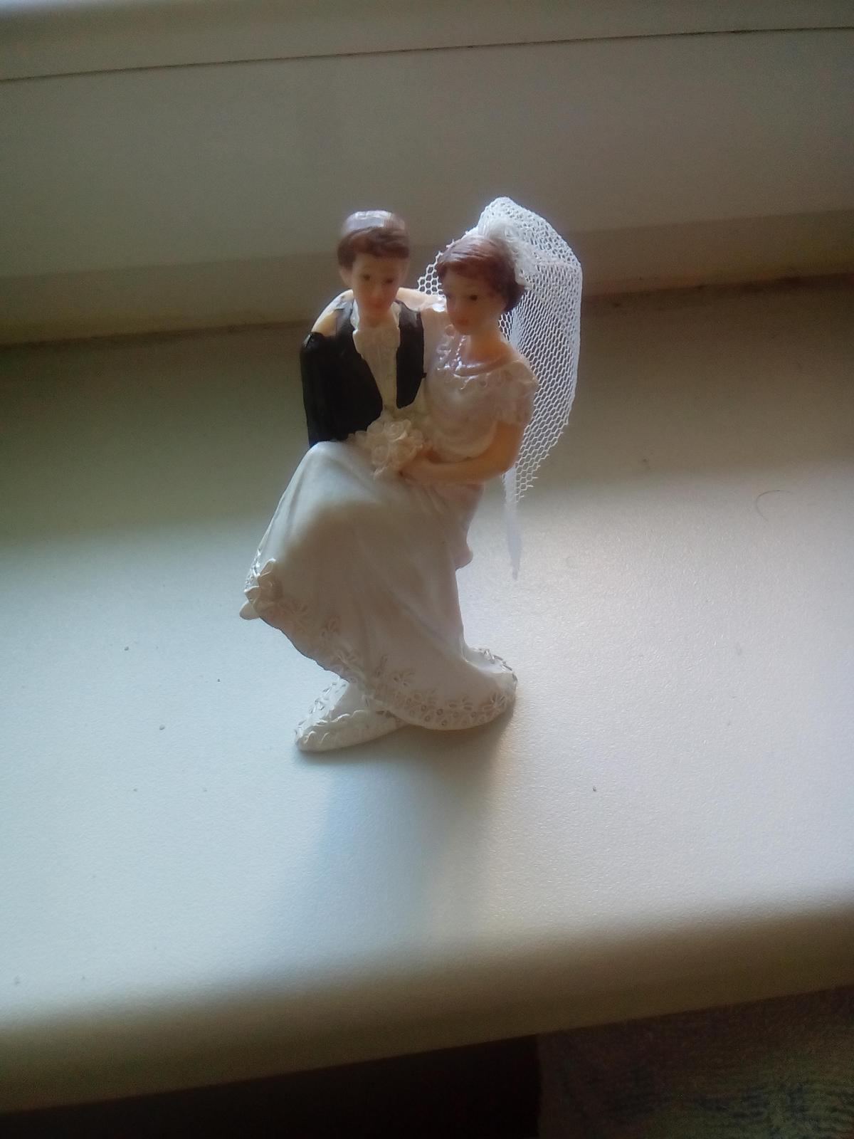 Figurka na dort nevěsta a ženich - Obrázek č. 1