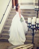 Certifikované svadobné šaty zn. Maggie, 40