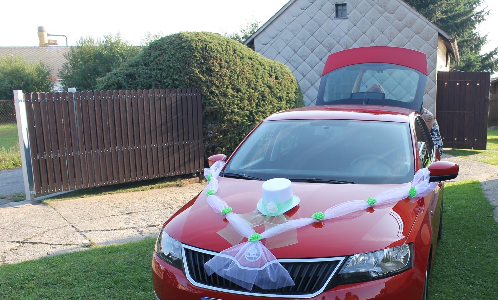 Výzdoba na auta ženicha a nevěsty - Obrázek č. 3