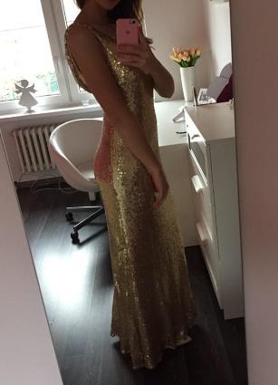 Zlaté dlhé šaty - Obrázok č. 3