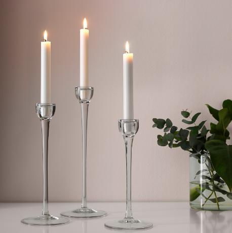 svietniky 3ks + sviečky - Obrázok č. 1