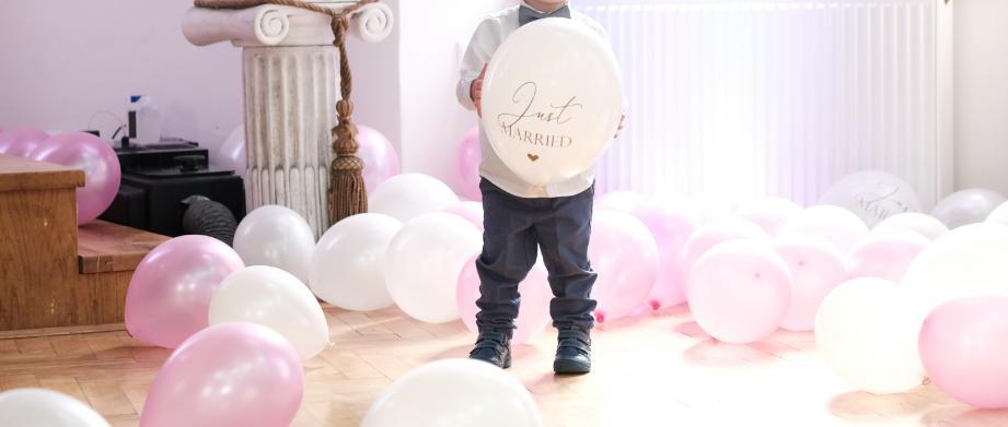 Balóny metalické 29cm, biele 52ks, ružové 53ks - Obrázok č. 3