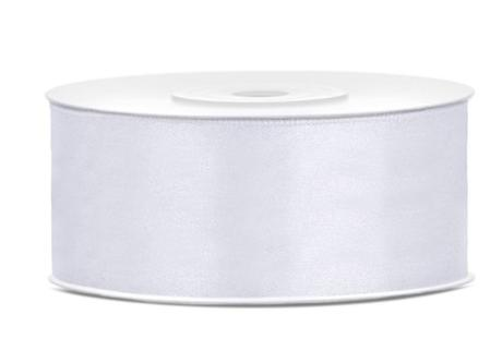 saténova stuha biela hr.25mm 25m - Obrázok č. 1