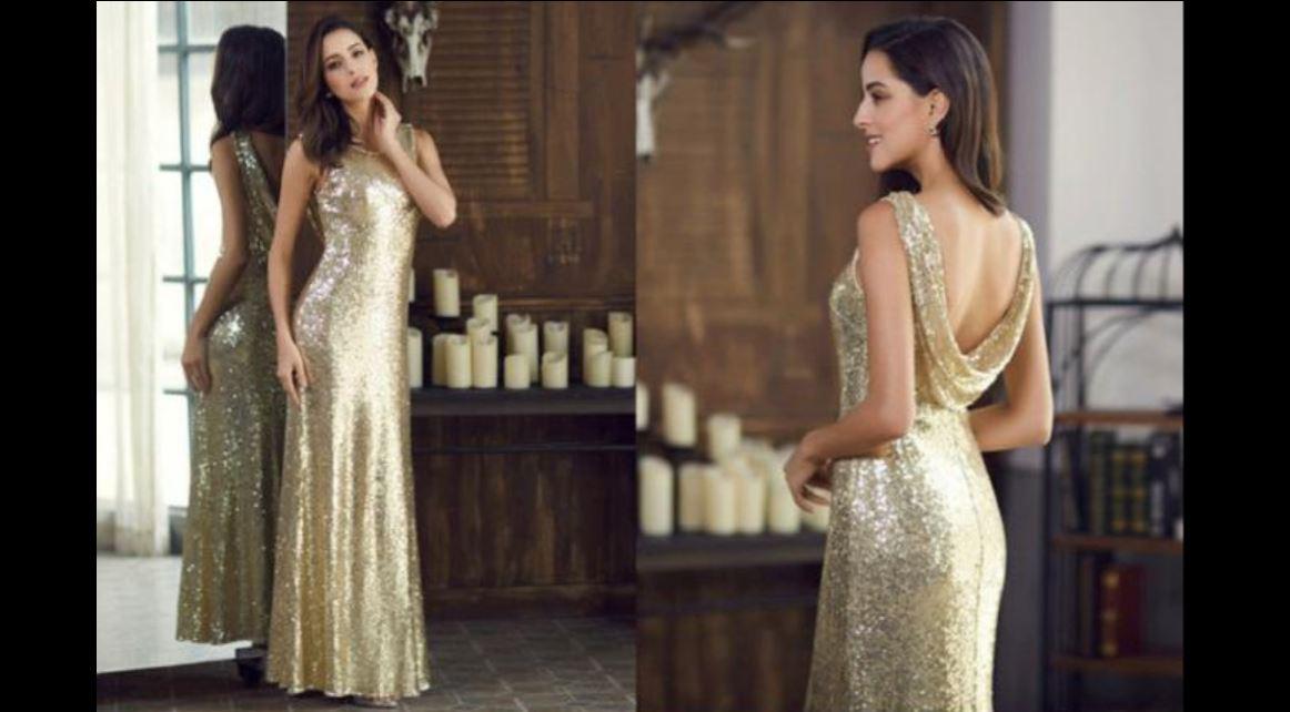 Zlaté dlhé šaty - Obrázok č. 1
