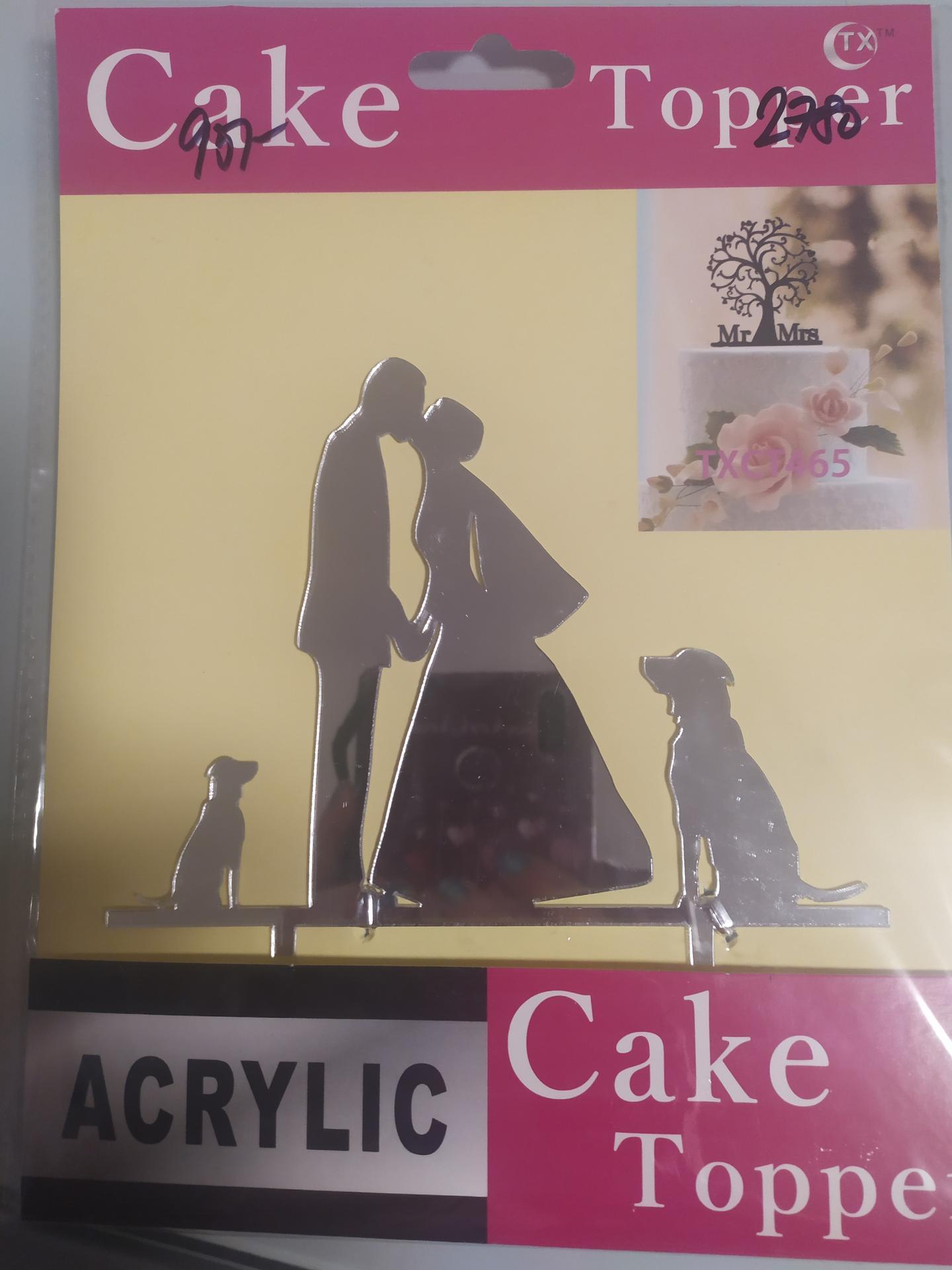 Svatební přípravy aneb co už máme. - Zápich do dortu přesně pro nás. My dva a naši 2 chlupáči, jeden velký, druhý malý ♥️