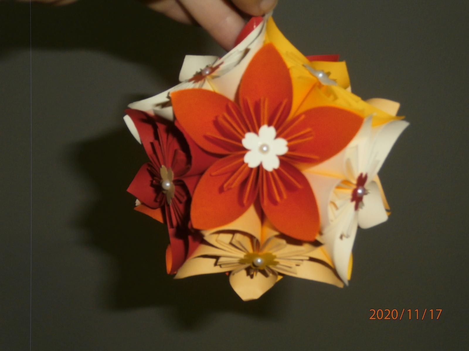 Origami květinové koule - Obrázek č. 1