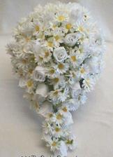 podobnou kytičku chci, stejný styl, jen jí budou tvořit modré a bílé chryzantemy