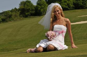 nevěsta na golfovém hřišti, jamka č. 3 Kostelec u Zlína
