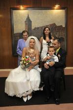 celá svatba:))svědkyně..