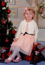 Sofinka začala chodit do školky - vánoční foto