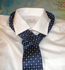 Oblečení ženich - Košile s kravatou na převlečení varianta 1