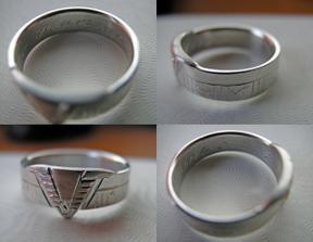 Prstýnky - detail prstýnku ženicha
