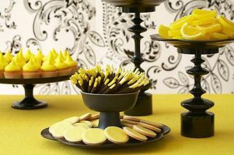 Různé citrónové sladkosti a kandované citróny