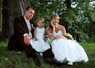 najmladšia družička, zároveň krsniatko Nicole