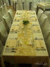 tabule v kombinacíh bílá, žlutá, zelená