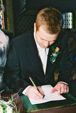 novomanželský podpis