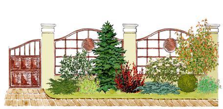 """Kvetinový záhon """"Malebný plot"""" - vhodný pre otvorené slnečné miesta"""