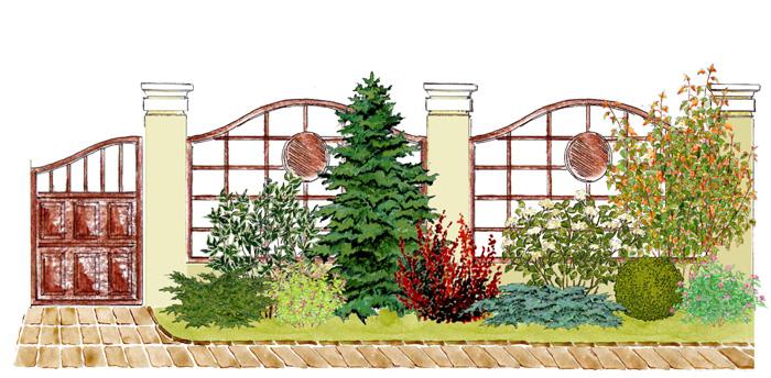 """Záhony, výsadby a nejaké tie doplnky - Kvetinový záhon """"Malebný plot"""" - vhodný pre otvorené slnečné miesta"""