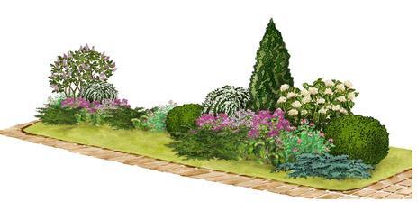 Kvetinový záhon s floxom - vhodný pre otvorené slnečné miesta