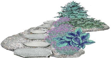 """Kvetinový záhon """"Strieborná cesta"""" - vhodný pre otvorené slnečné miesta"""