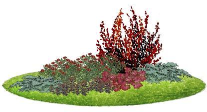 """Kvetinový záhon """"Na ružiach ustlané"""" - vhodný pre otvorené slnečné miesta"""