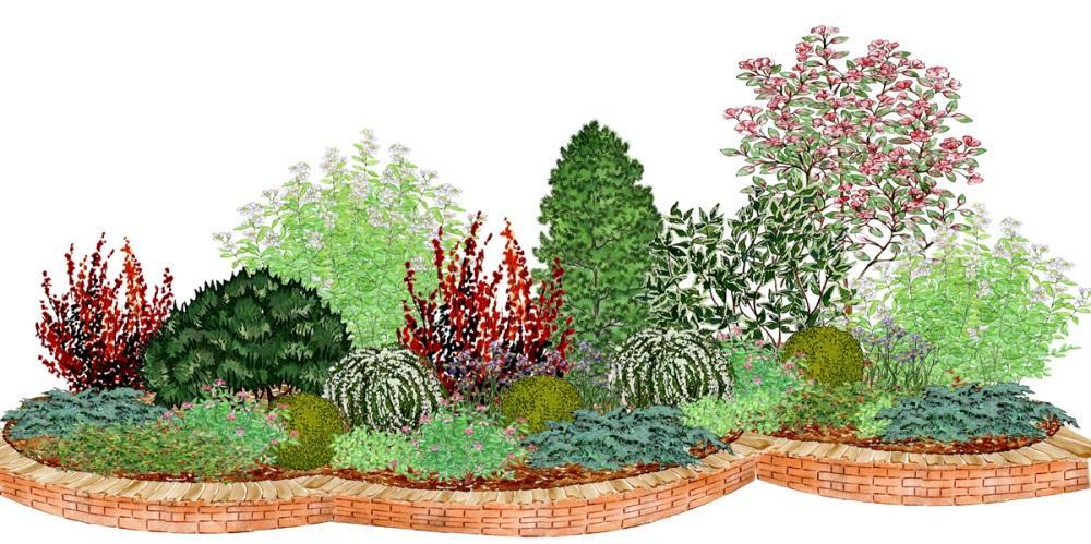 Záhony, výsadby a nejaké tie doplnky - Kvetinový záhon s jabloňou - vhodný pre otvorené slnečné miesta